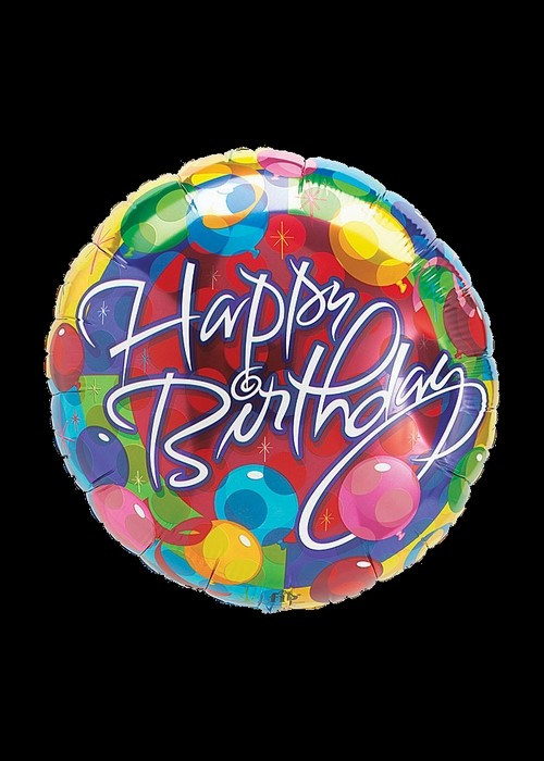 Foil 18 inch Helium - Happy Birthday - 01