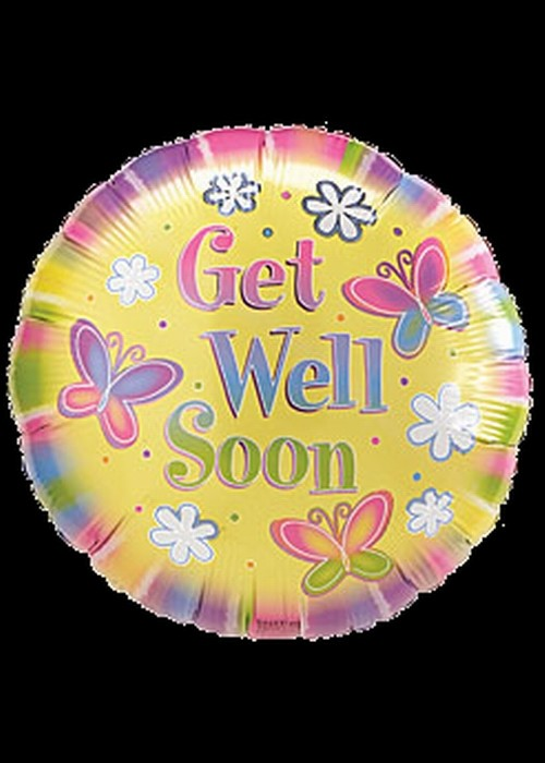 Foil 18 inch Helium - Get Well Soon - 01