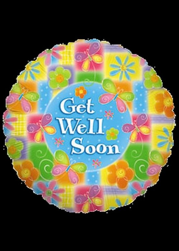 Foil 18 inch Helium - Get Well Soon - 02