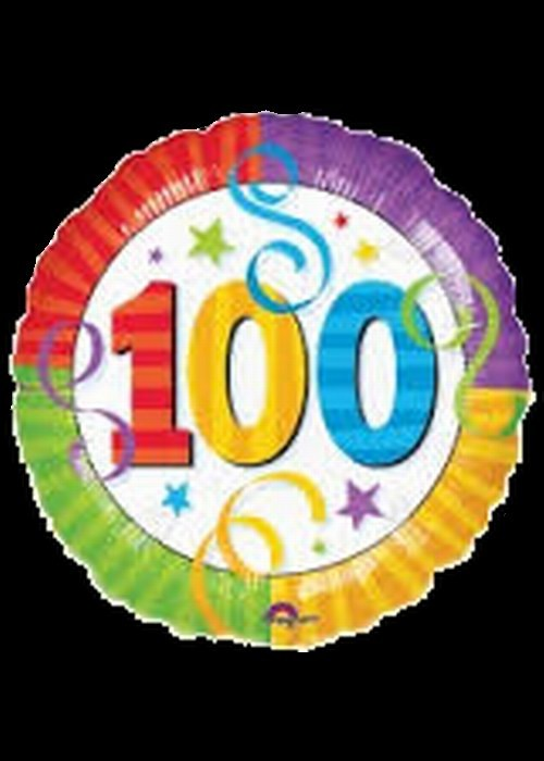 Foil 18 inch Helium - 100th Birthday