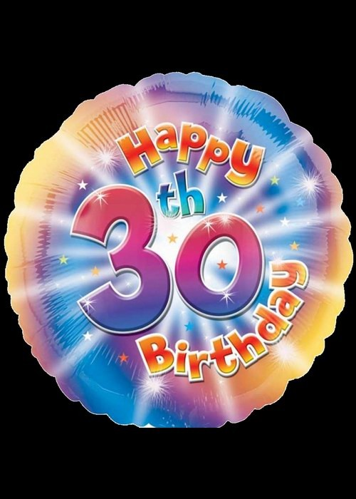 Foil 18 inch Helium - 30th Birthday