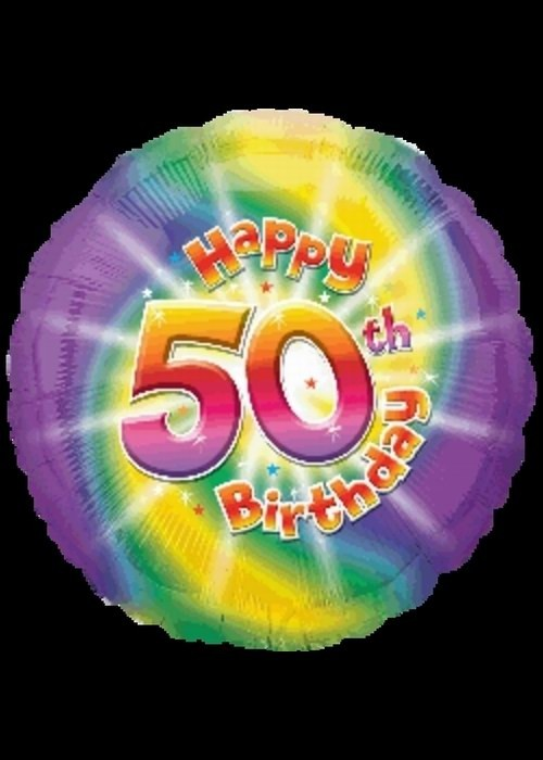 Foil 18 inch Helium - 50th Birthday
