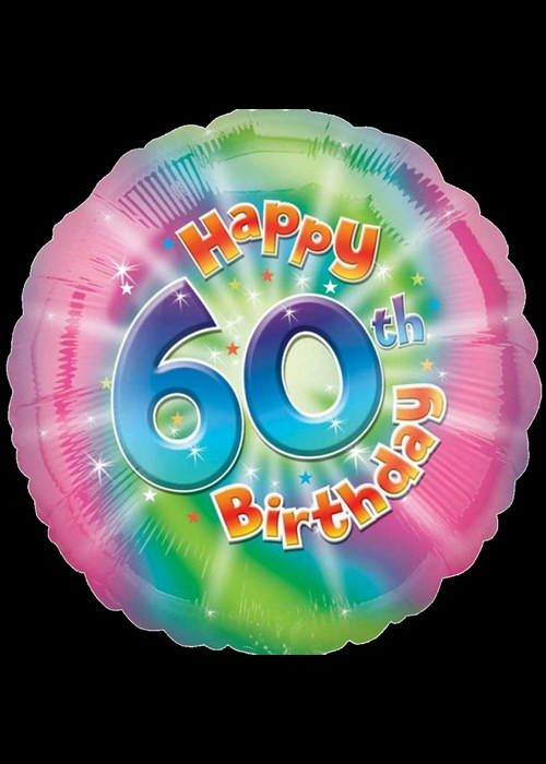 Foil 18 inch Helium - 60th Birthday